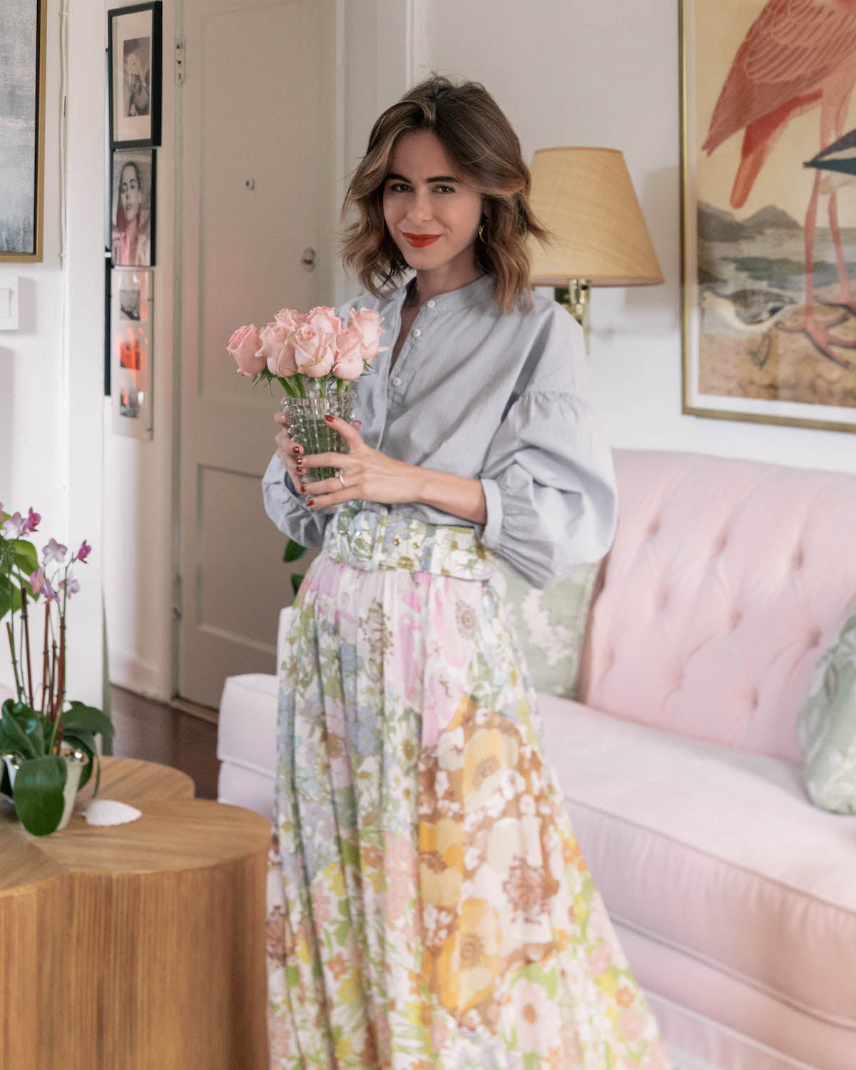 Step Into Stephanie Hill's Insanely Chic Pink & Green