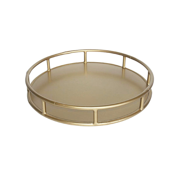 Faux Bamboo Tray - Round
