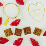 Gold Foil Love Collection Letterpress Coasters