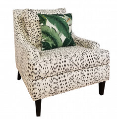 The Holly Chair - Les Touches Black Fabric