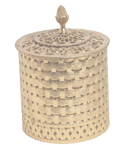 Woven Brass Toilet Paper Cover