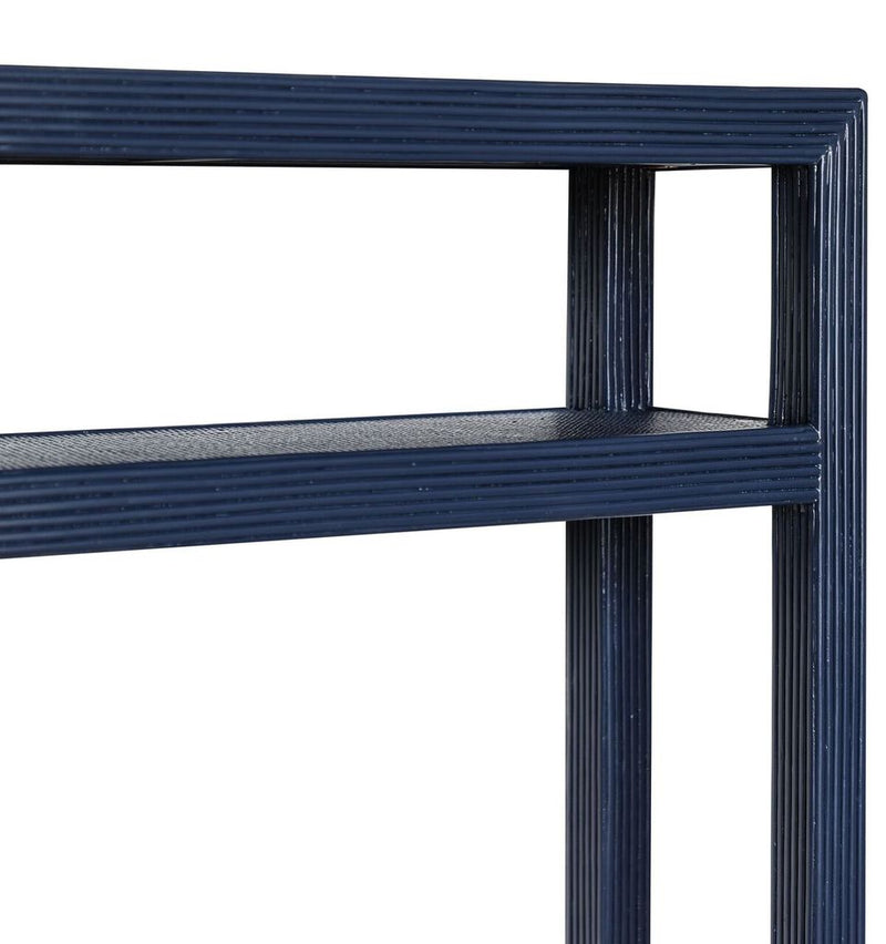 Makati Pencil Rattan Console - Navy