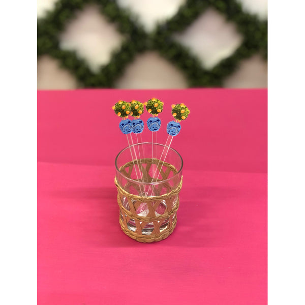 Tulip Ginger Jar Acrylic Stirrer Set