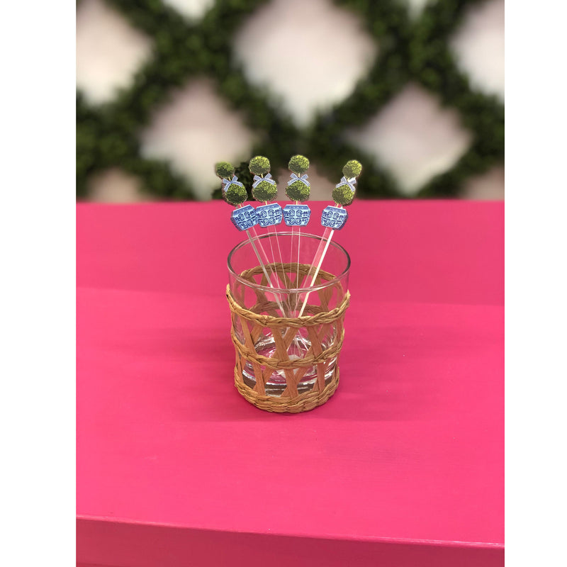 Topiary Acrylic Stirrer Set