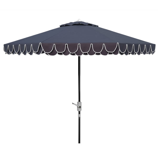 Amalfi Double Scalloped Umbrella in Navy & White