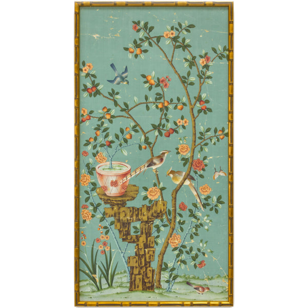 Bel Aire Adriatic Chinoiserie Panel
