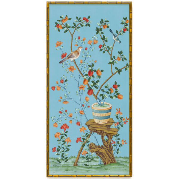 Bel Aire Cornflower Chinoiserie Panel