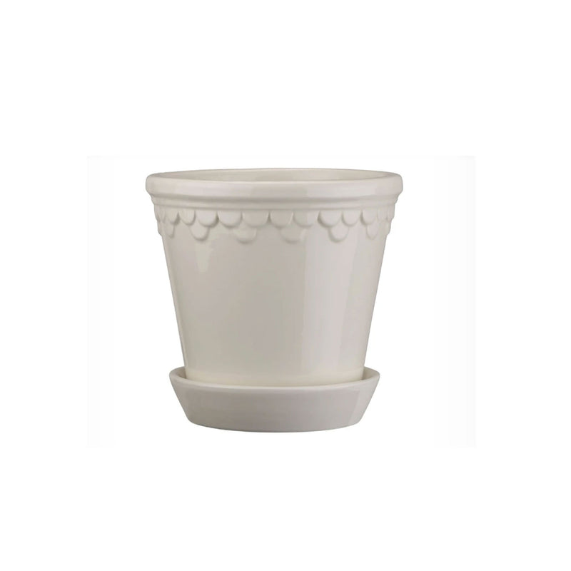 "Copenhagen 7.1"" White Glazed Planter"