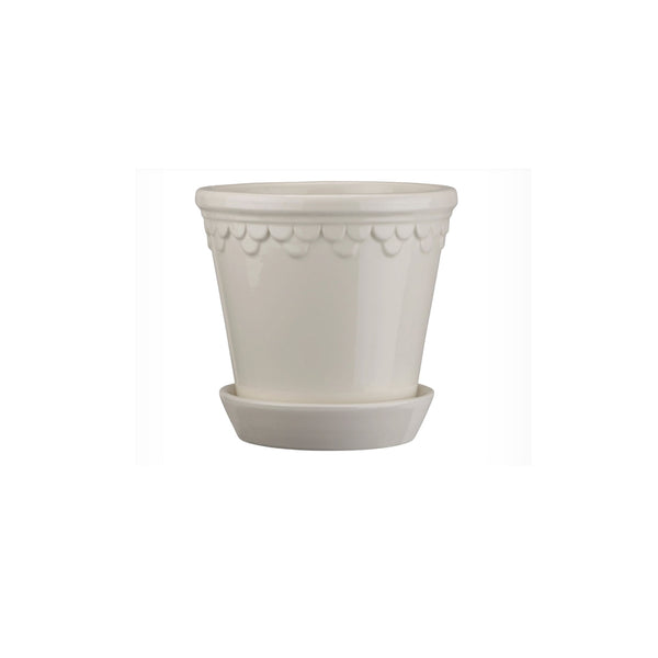 "Copenhagen 4.7"" White Glazed Planter"