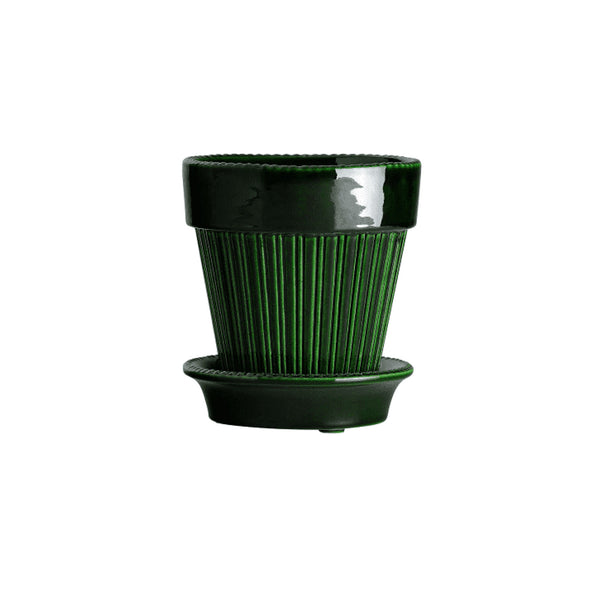 "Simona 4.7"" Emerald Green Glazed Planter"