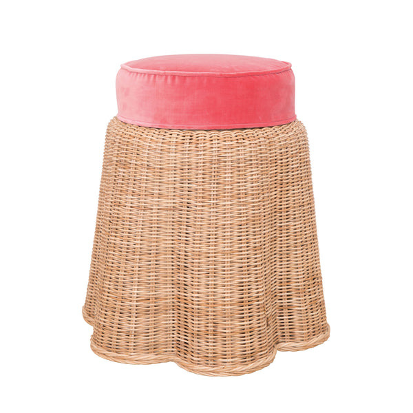 Birdie Wicker Stool