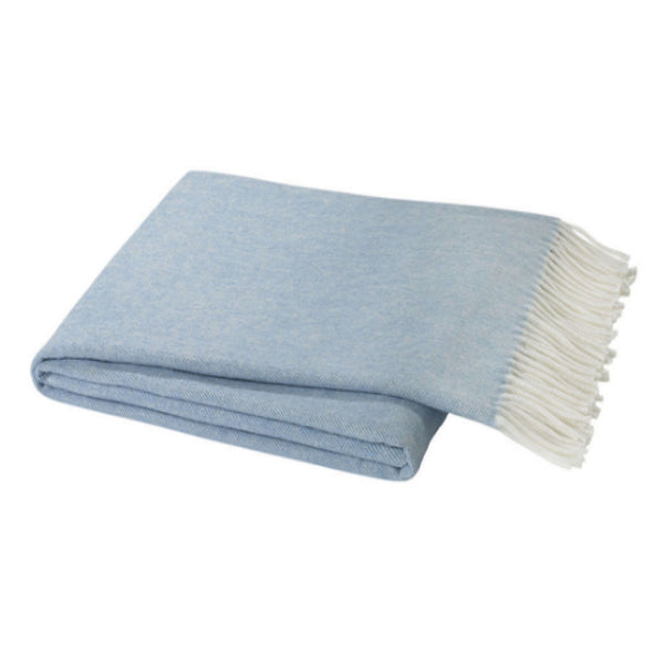 Denim Herringbone Throw