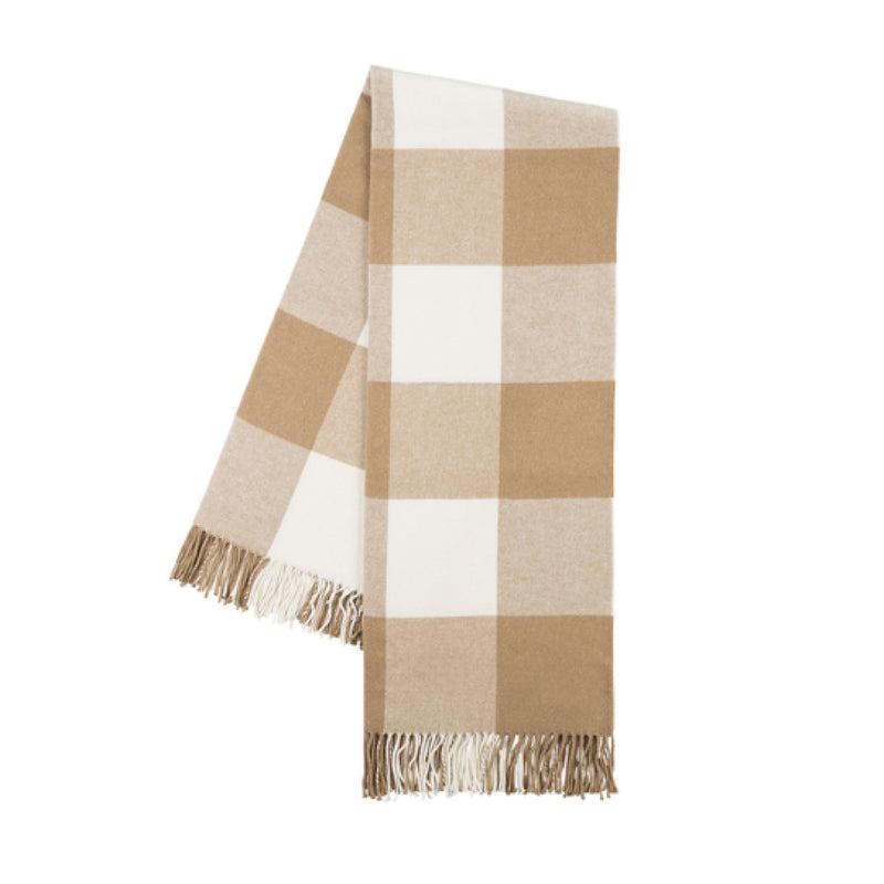 Caramel Buffalo Check Throw