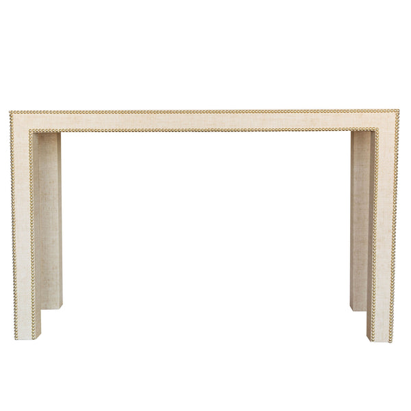 Celine Grasscloth Parsons Table - Custom Dimensions
