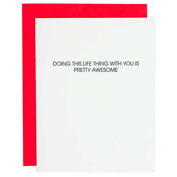 Doing Life With You Card