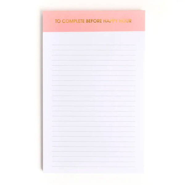 To Complete Before Happy Hour Notepad