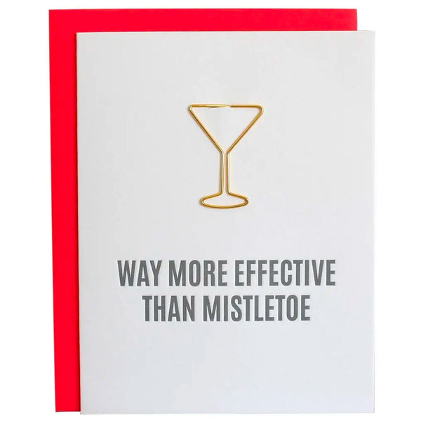 Way More Effective Than Mistletoe Card with Paper Clip