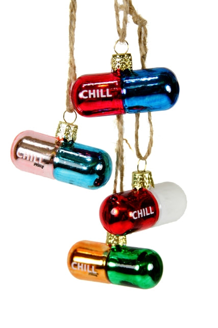 Chill Pill Ornament Set