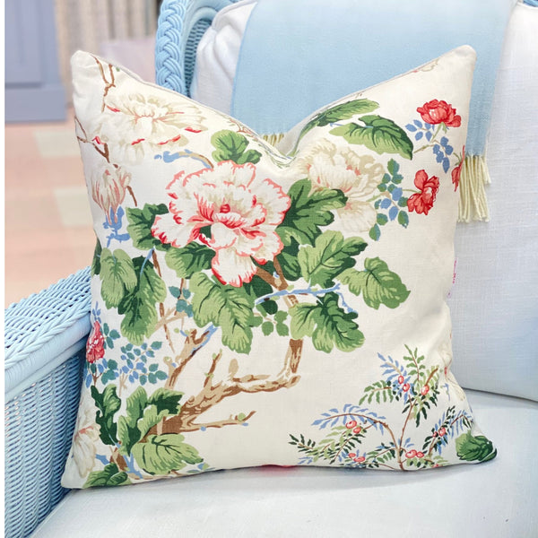 Chinese Peony Rose Pillow