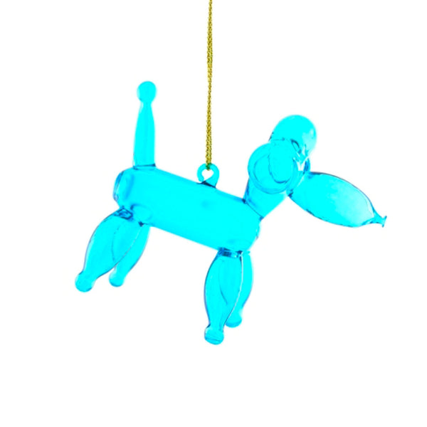 Balloon Poodle Blue Ornament