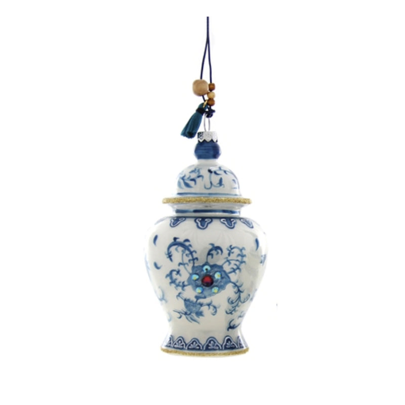 French Blue Chinoiserie Ginger Jar Ornament