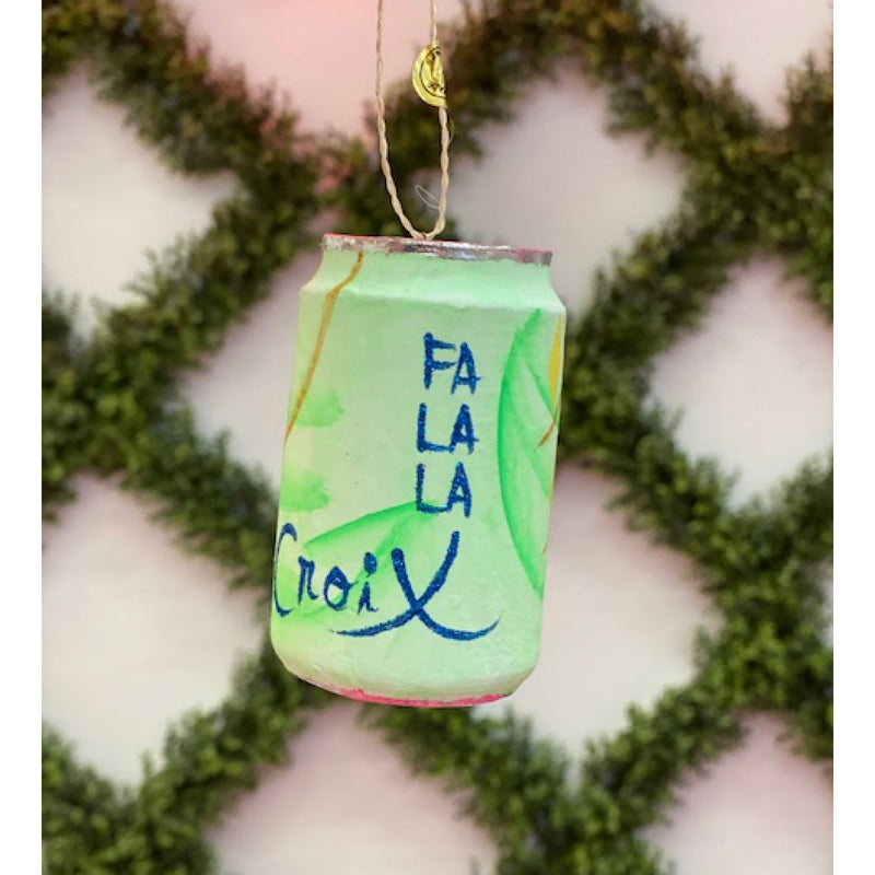 Fa La La Croix Green Ornament