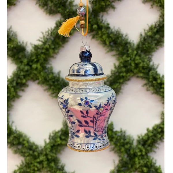 Navy Chinoiserie Ginger Jar Ornament