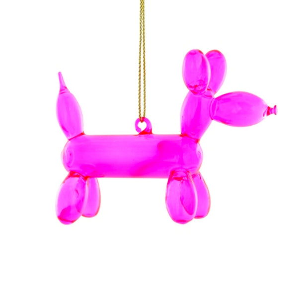 Balloon Poodle Pink Ornament