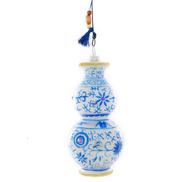 French Blue Vase Ornament