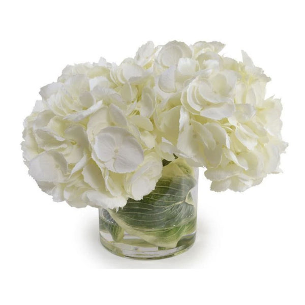 Cream Hydrangea Arrangement in Glass