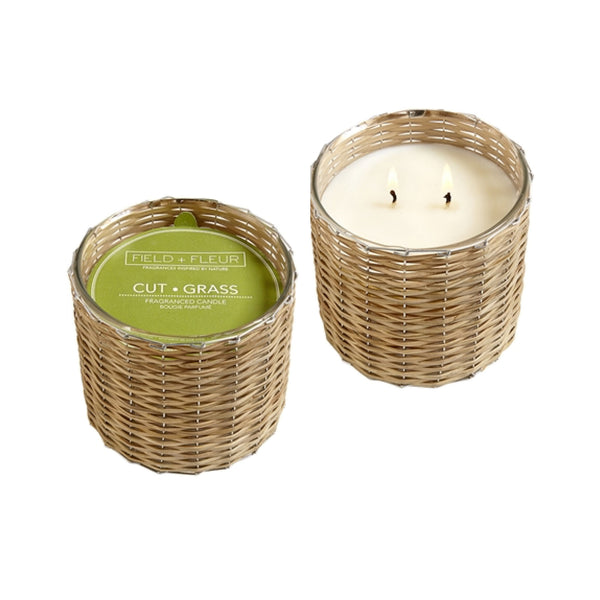 Cut Grass Handwoven Wicker Candle