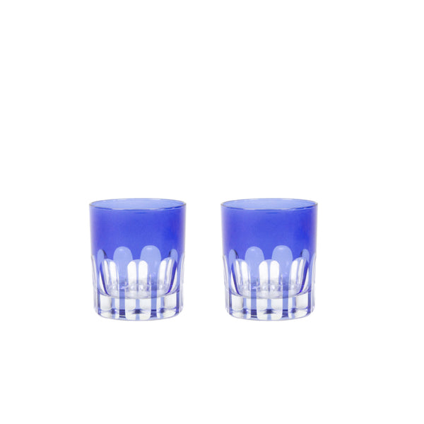 Double Old Fashioned Glasses in Moon Glow