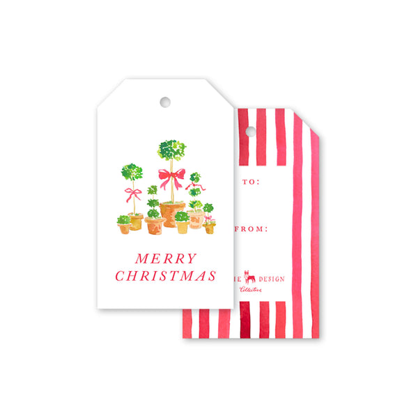 Christmas Topiaries Gift Tag