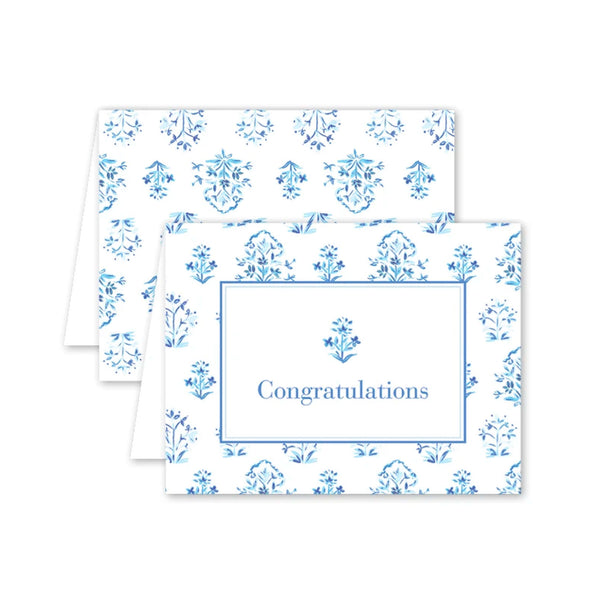 India Block Print Congratulations Card