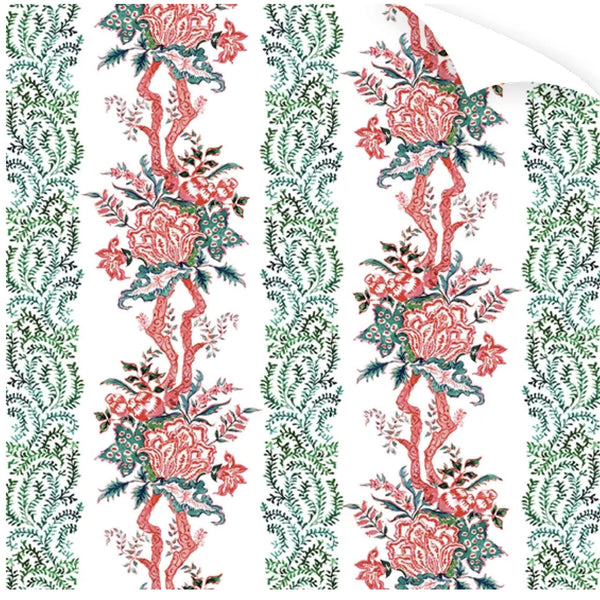 Ruby Chintz Wrapping Paper Roll