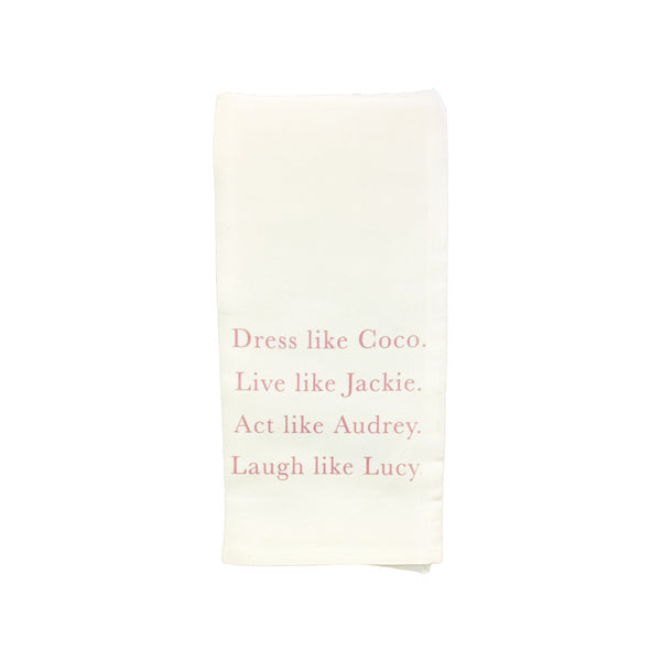 Dress Like Coco Decorative Towel