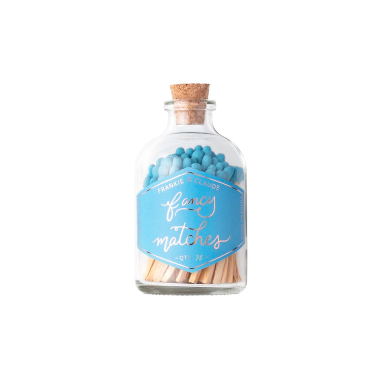 Fancy Matches Jar in French Blue