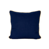Colorblock Linen Pillow Navy & White