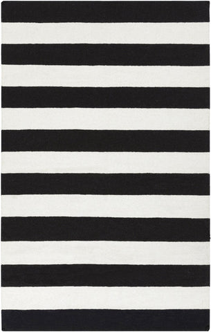 Frontier Stripe Rug Black
