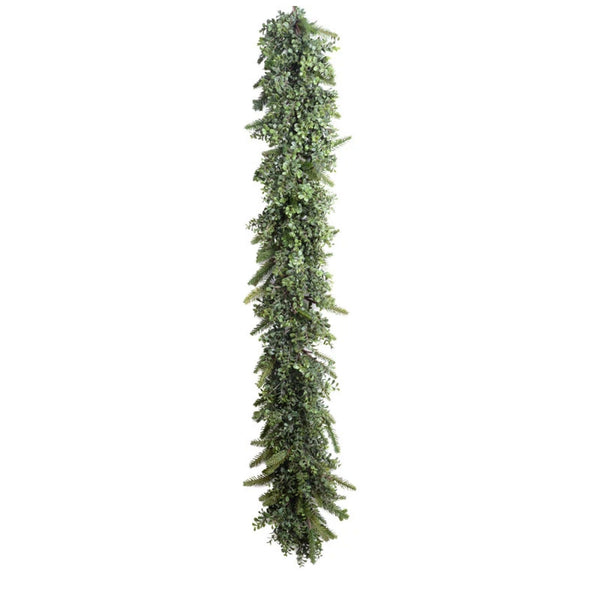 6' Boxwood, Fir Garland