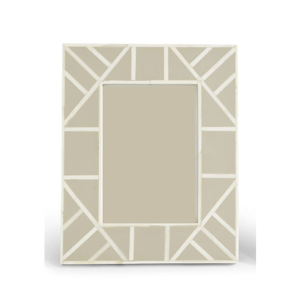 "Light Brown Geometric Frame  5""x 7"""