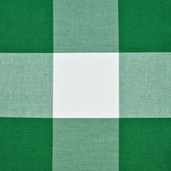 Performance Gingham Emerald - Fabric by the Yard