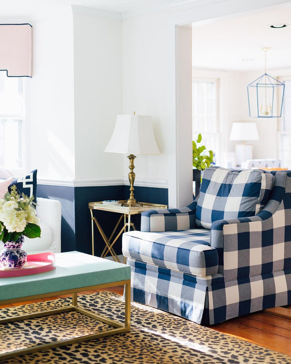 Gingham Navy - Fabric by the Yard