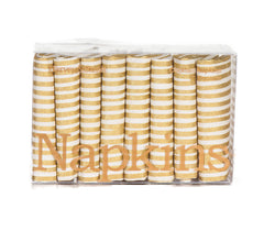 Gold Stripe Cocktail Napkins