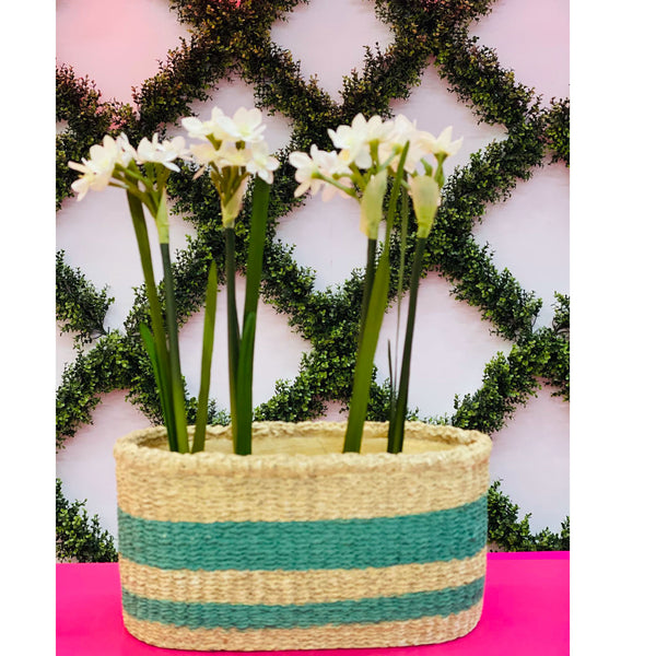 Garden Basket Planter - Green