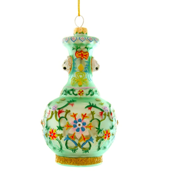 Green Chinoiserie Vase