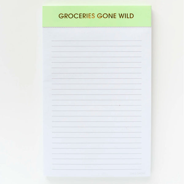 Groceries Gone Wild Notepad
