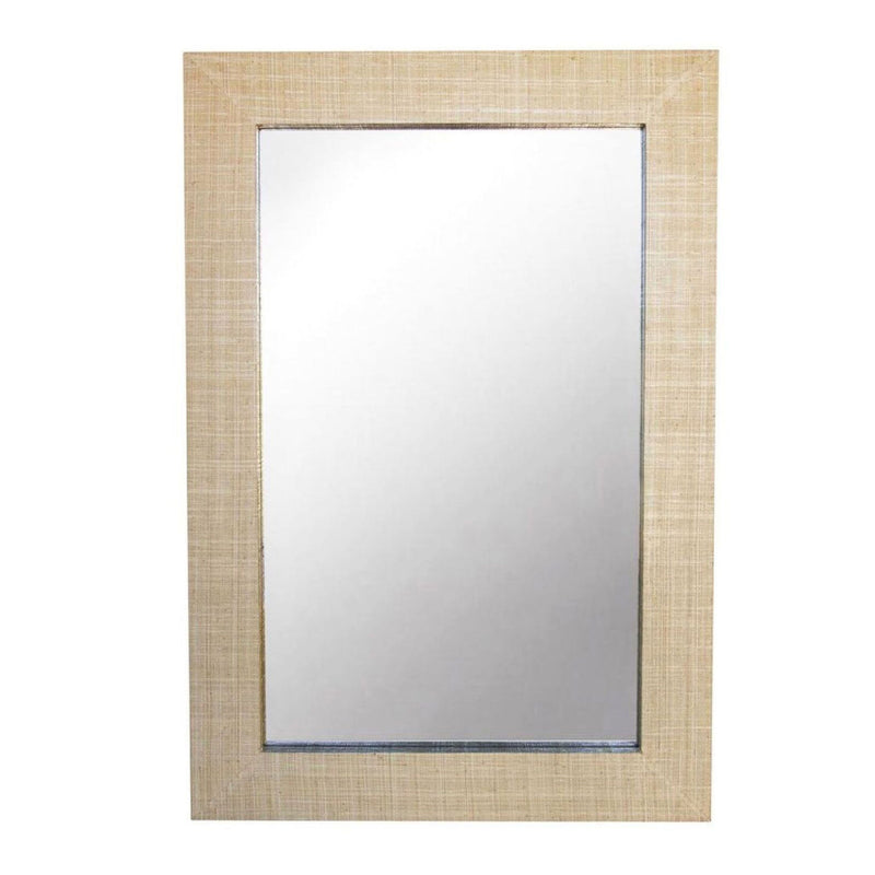Gwen Grasscloth Mirror - Rectangular