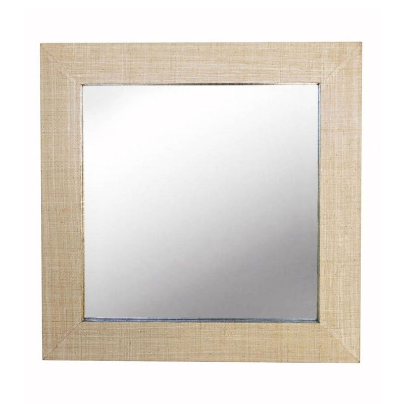 Gwen Grasscloth Mirror - Square