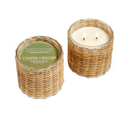 Coastal  Balsam Handwoven Wicker Candle
